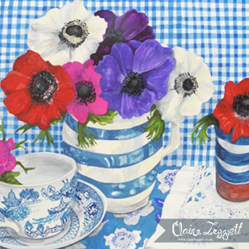 Blue Check Anemones