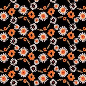 Little Flowerhead – black