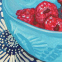 Close up detail of Raspberry Sneak