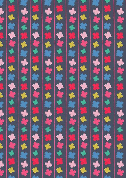 Cheerful Flower Stripe