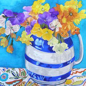 Wallflowers: original painting