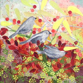 Berry Birds: original painting