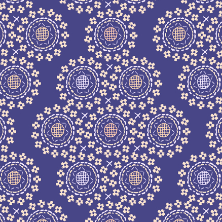 Stitched Flower Circle