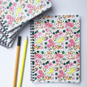 Close up detail of Bird Garden: Softcover A5 notebook