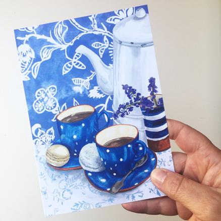 Coffee Pot greeting card