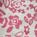 Close up detail of Dianthus Fabric length