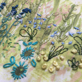 Four Seasons Stitchscape – blue