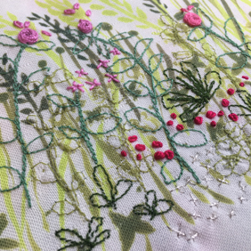 Four Seasons Stitchscape – pink