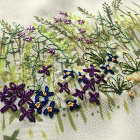 Four Seasons Stitchscape – purple