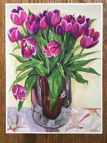 Magenta Tulips Giclee Print