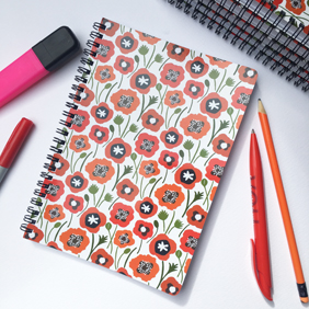 Poppy: Softcover Spiral A5 notebook