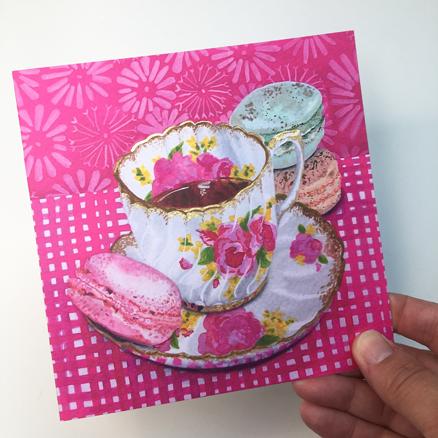 Rose Macaroon greeting card