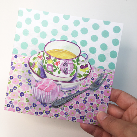 Teatime greetings card